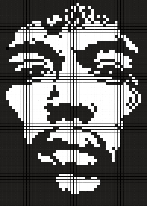 Jimi Hendrix ( Square)