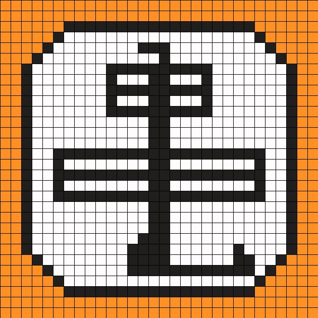 Master Roshi Symbol Perler Bead Pattern / Bead Sprite