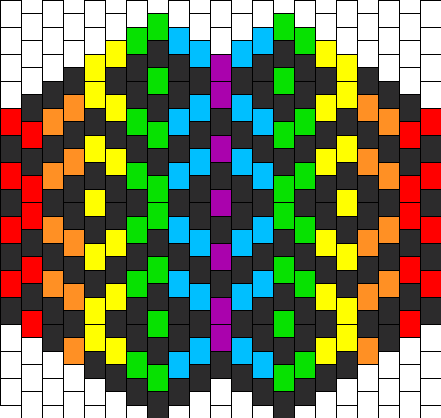 intricate rainbow mask