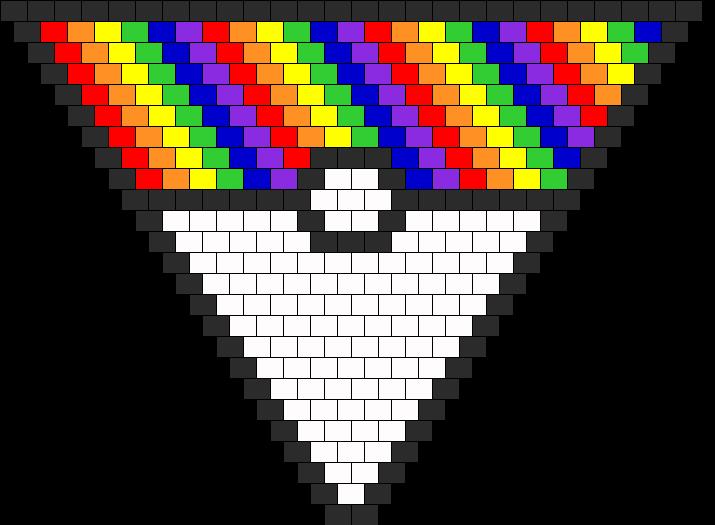 rainbow pokeball bandanna