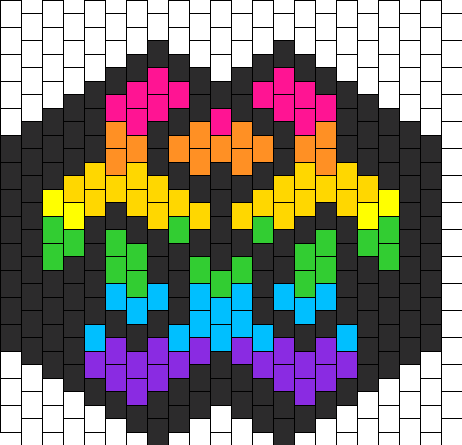 Rainbow Biohazard Mask