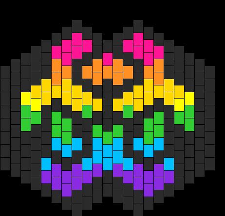 Rainbow Biohazard Mask Bead Pattern