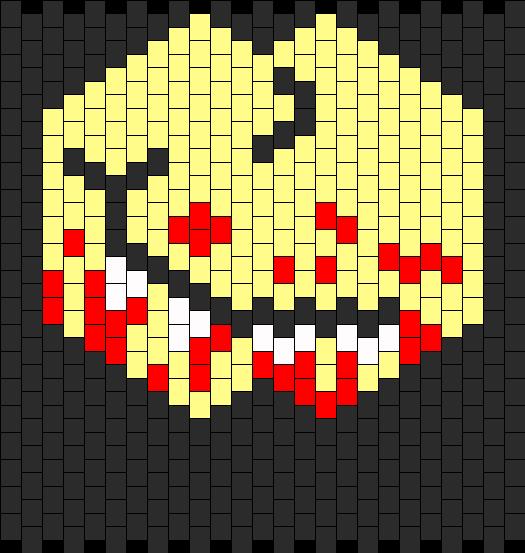 bloody smirk mask
