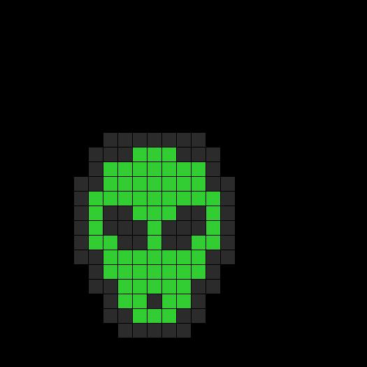 Alien Fusebead Perler Bead Pattern / Bead Sprite