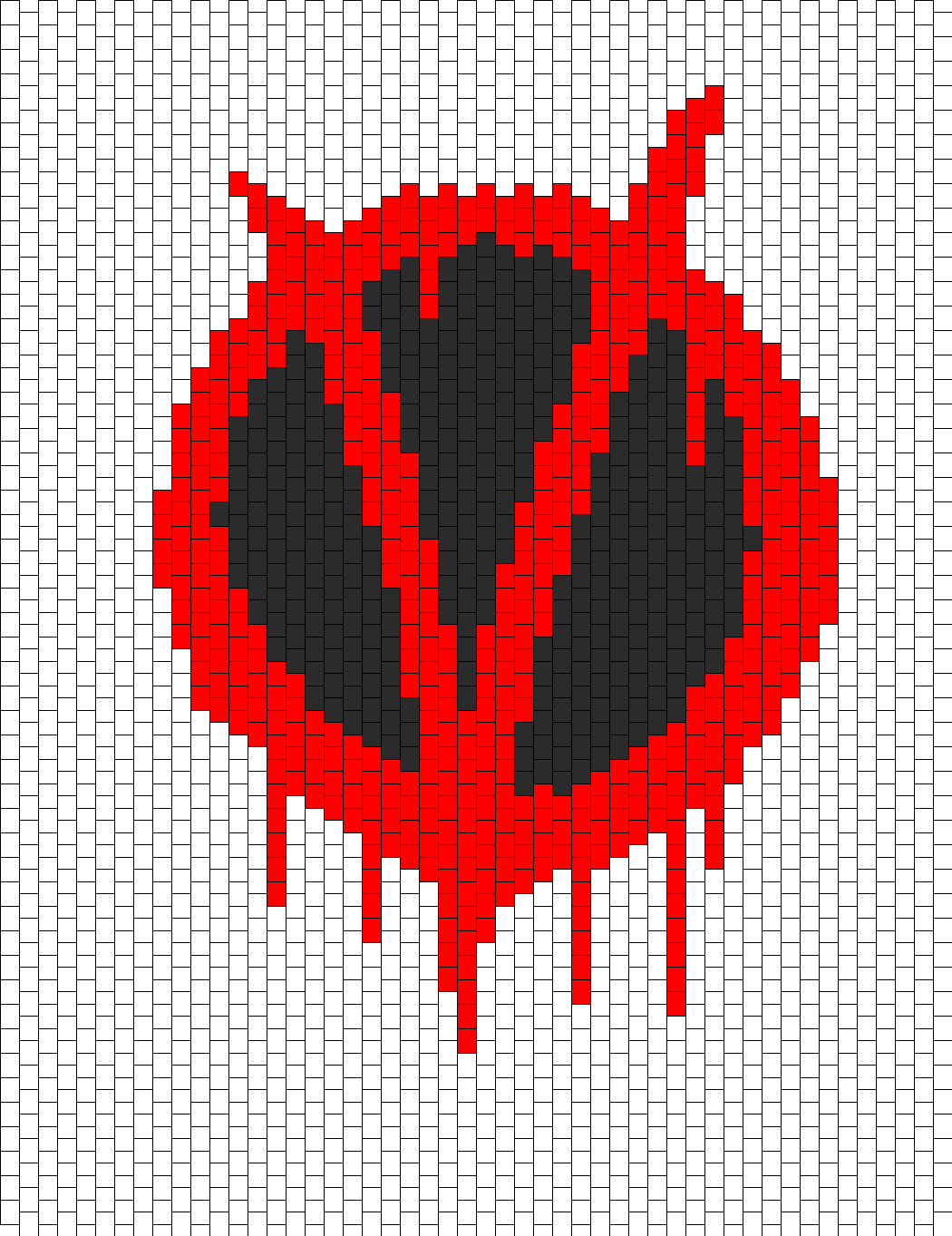 V For Vendetta Bead Pattern