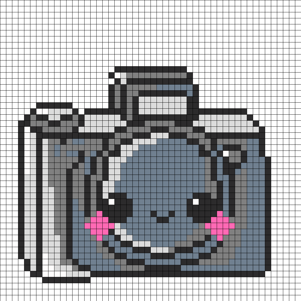 Kawaii Camera Perler Bead Pattern / Bead Sprite