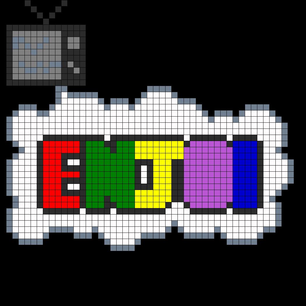 Enjoi Perler Bead Pattern / Bead Sprite