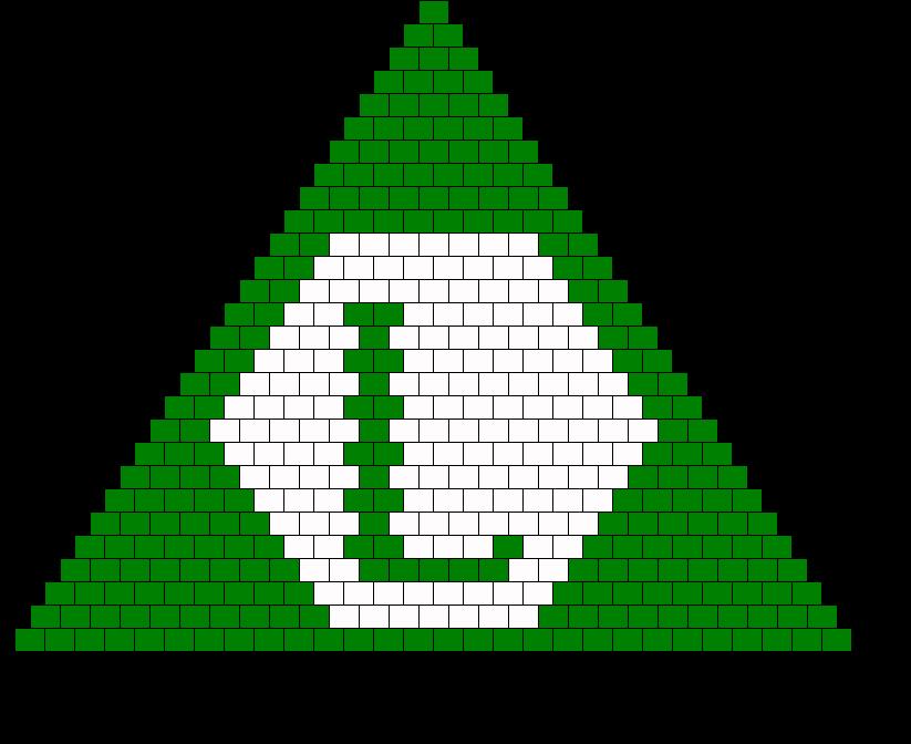 Luigi Bikini Triangle Bead Pattern