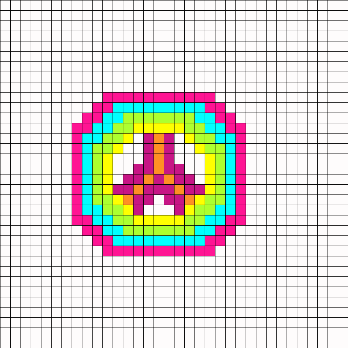 Neon Peace perler