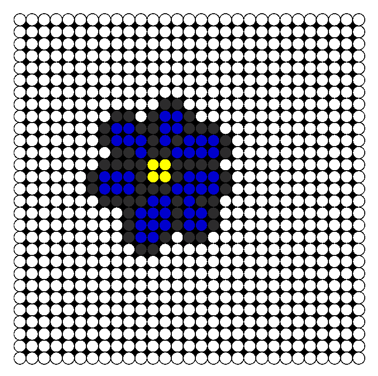 Midnight Flower Perler Bead Pattern / Bead Sprite