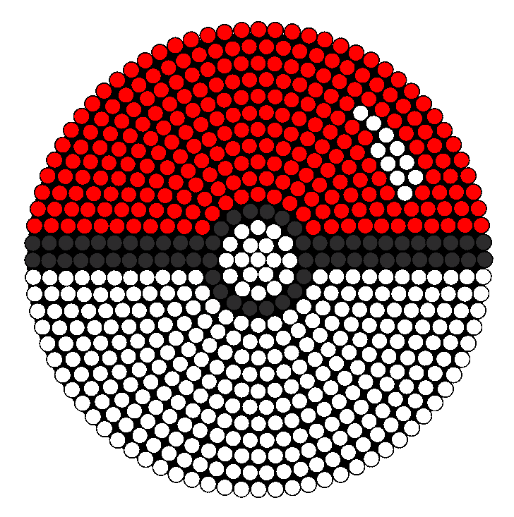 Pokeball Perler Bead 3D Patterns
