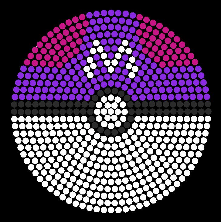 Master ball perler bead pattern bead sprite