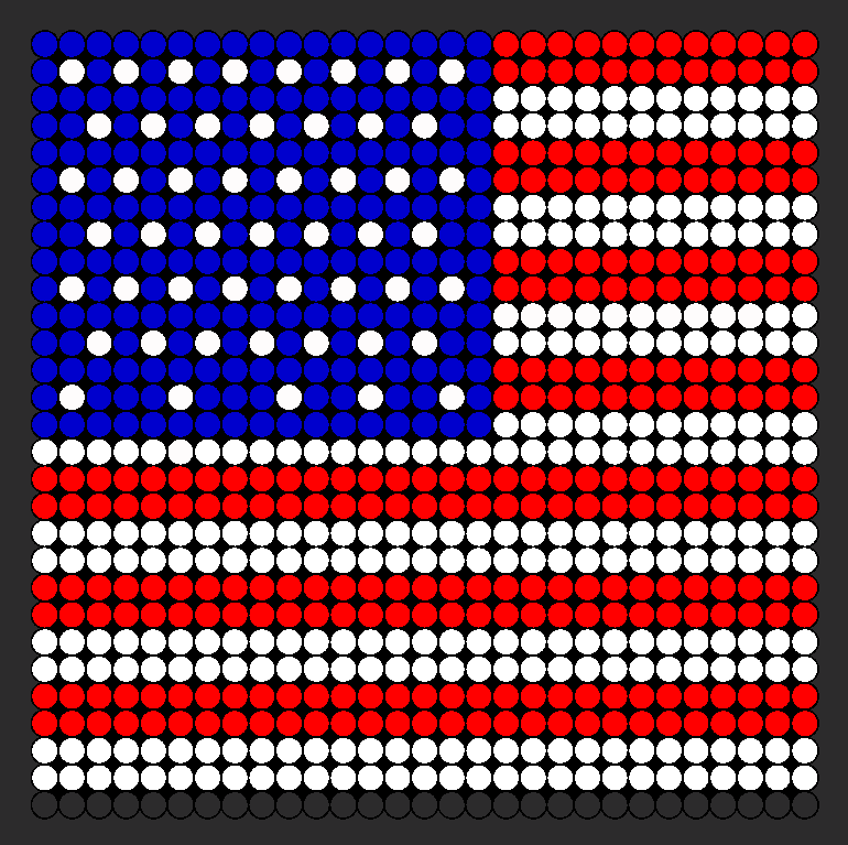 american flag large perler bead pattern bead sprites