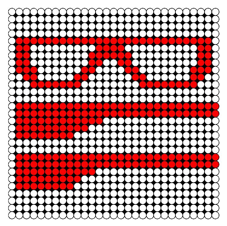 3D Glasses Perler Bead Pattern / Bead Sprite