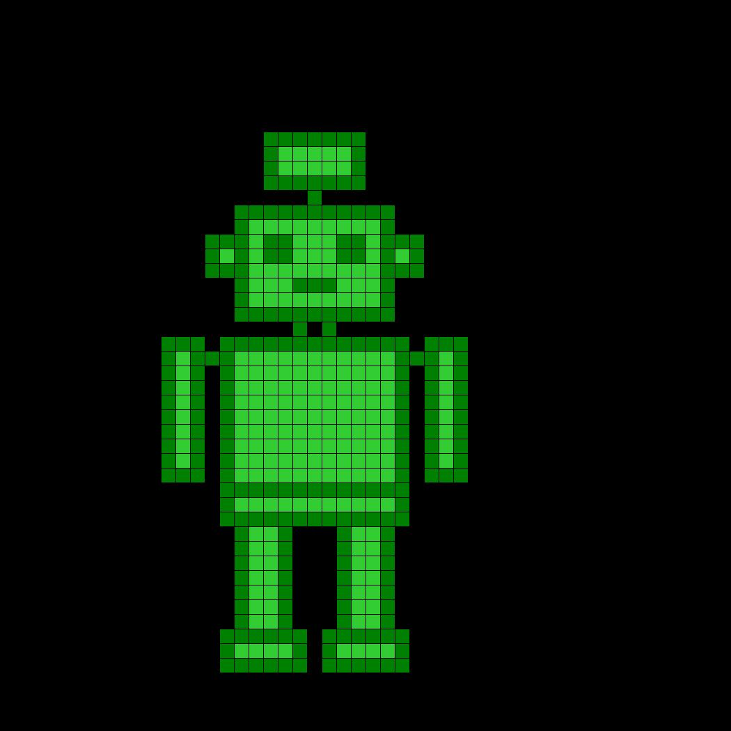 weed inspired robot perler
