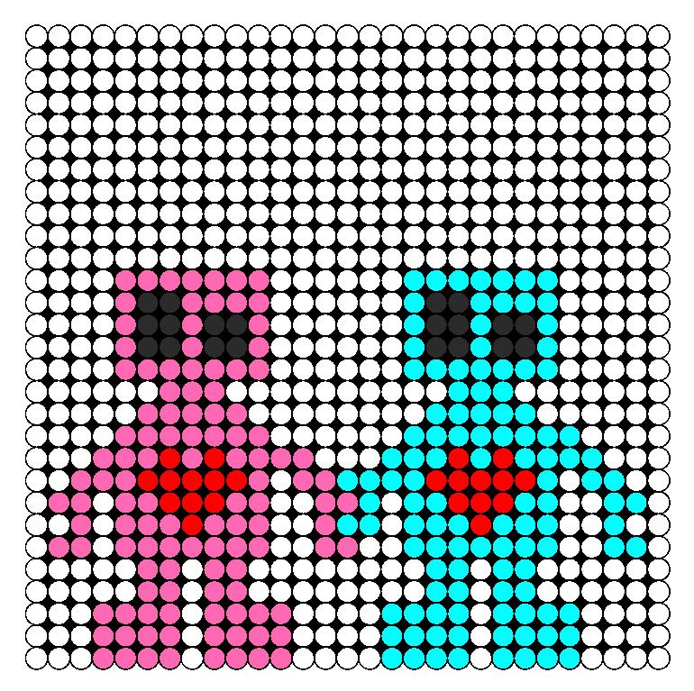 Robot Love Perler Bead Pattern / Bead Sprite