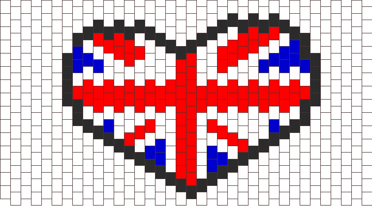 British Flag Heart Bead Pattern