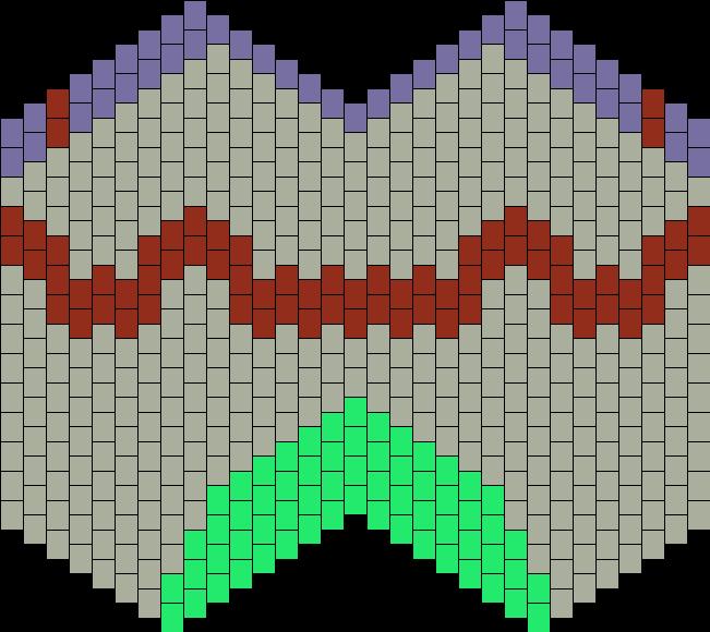 Evangelion Unit 01 Mask Bead Pattern