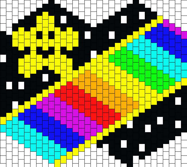 Mario Kart 64 Rainbow Road Mask Bead Pattern