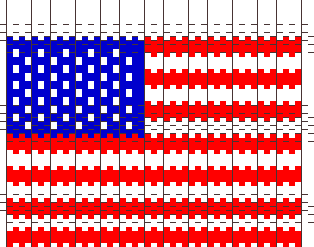 American Flag Panel Bead Pattern