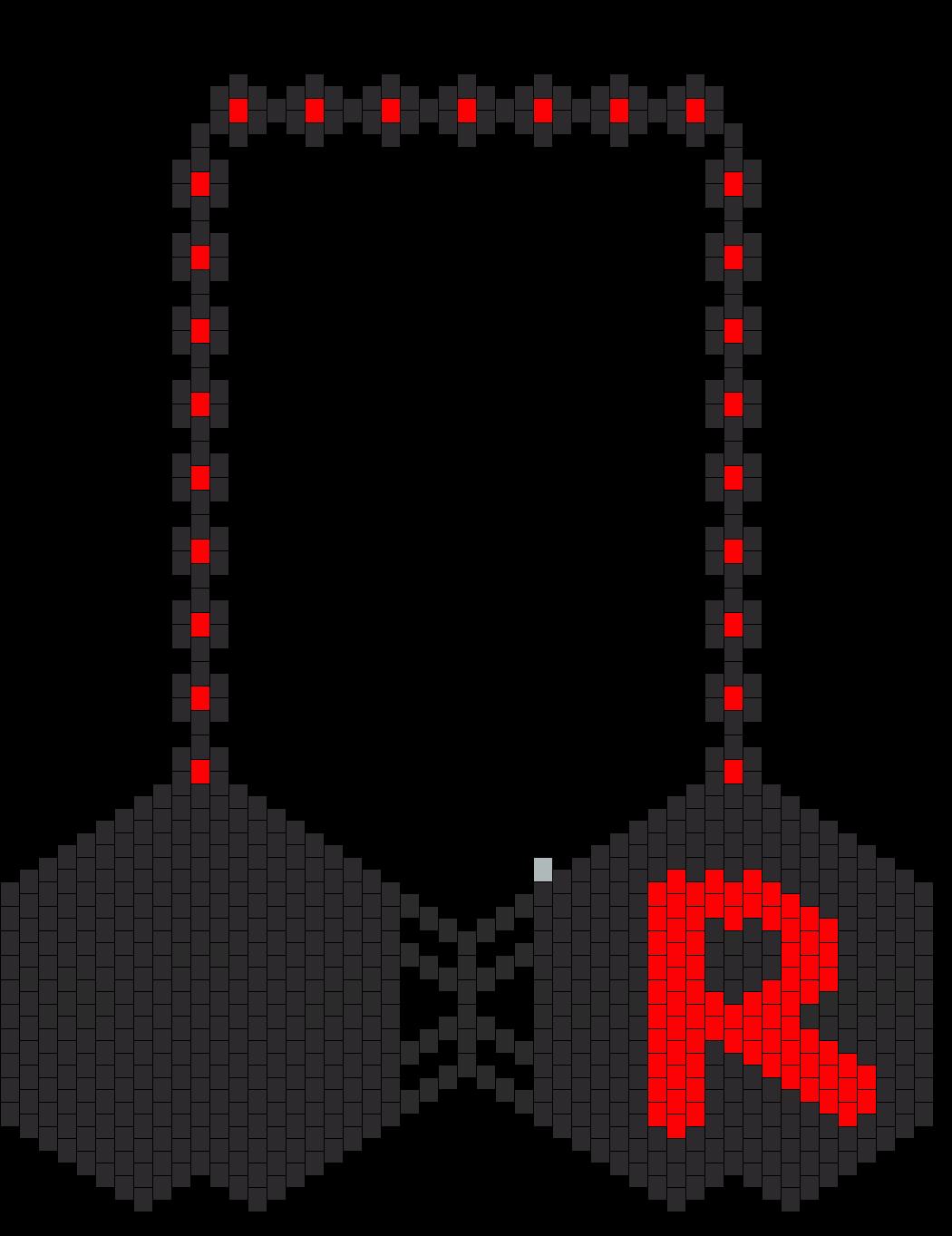 Pokemon Team Rocket R Kandi Bikini Bra Version 1 Bead Pattern