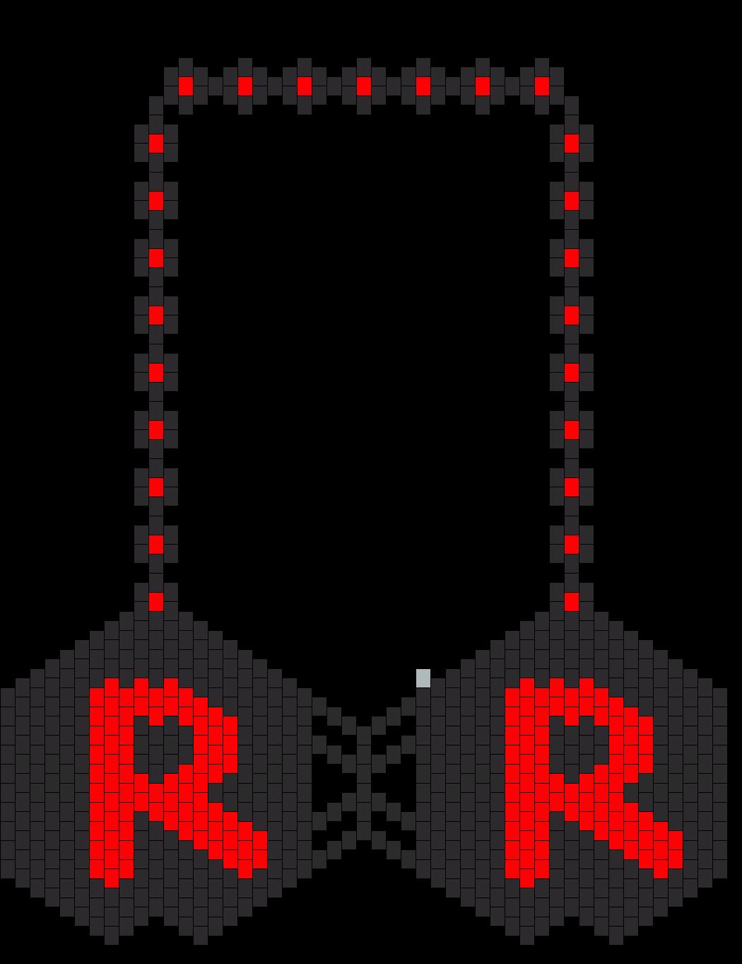 Pokemon Team Rocket R Kandi Bikini Bra Version 2 Bead Pattern