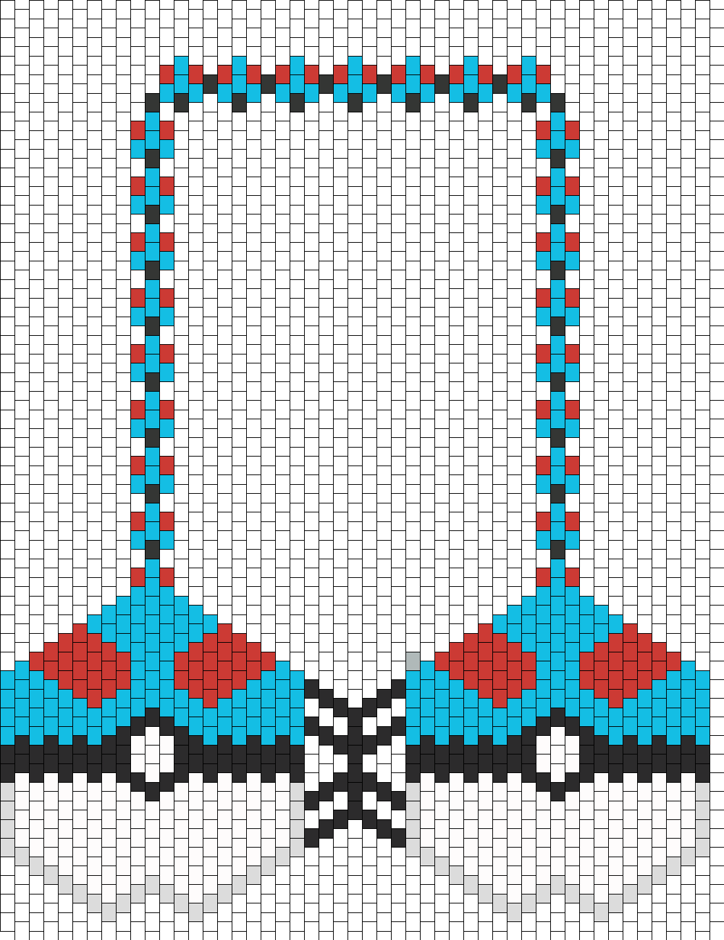 great kandi bra bead pattern peyote