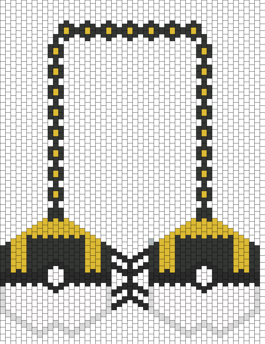 Pokemon Ultra Ball Kandi Bikini Bra Bead Pattern