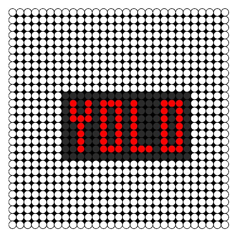 YOLO Perler Bead Pattern / Bead Sprite