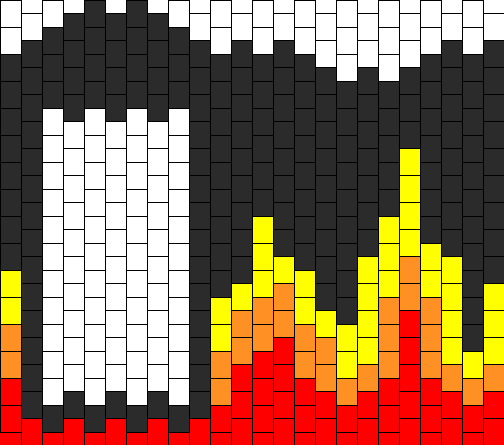 Fire Flames Ipod Touch Case Bead Pattern