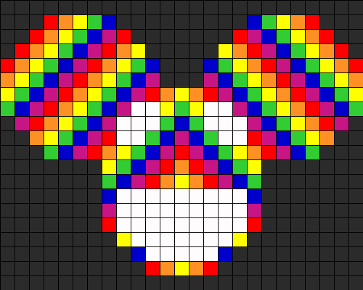 Rainbow Deadmau5 Perler