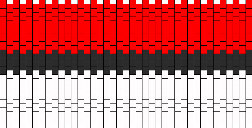 Back PokeBall Purse Panel Bead Pattern
