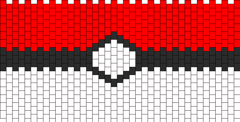 Front PokeBall Purse Panel Bead Pattern