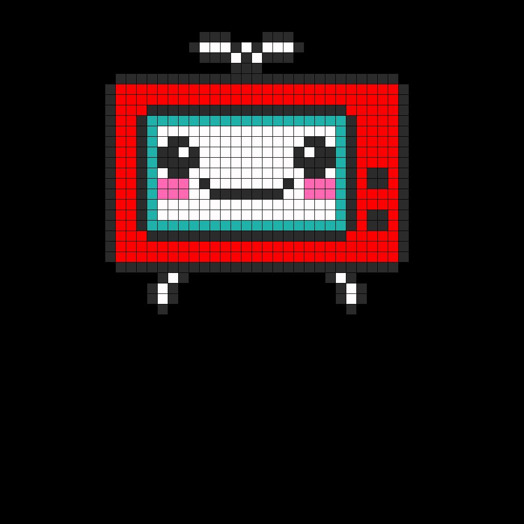 TV Perler Bead Pattern / Bead Sprite
