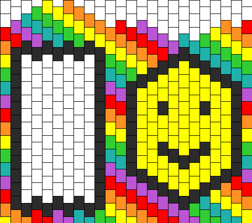 Smiley Face Rainbow Ipod Touch Case Bead Pattern