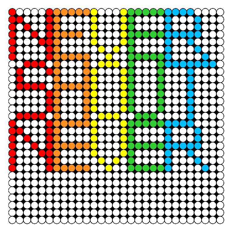 NeverShoutNever Perler Bead Pattern / Bead Sprite