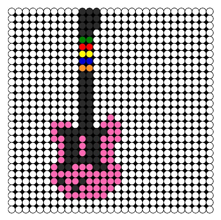 Guitar Hero Guitar Perler Bead Pattern Bead Sprites Misc Fuse Custom Hero Patterns