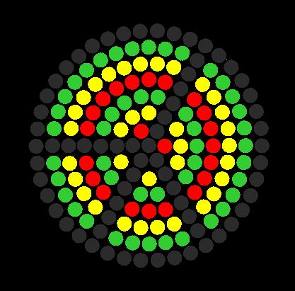 Rasta Peace Fuse Bead Pattern Perler Bead Pattern / Bead Sprite