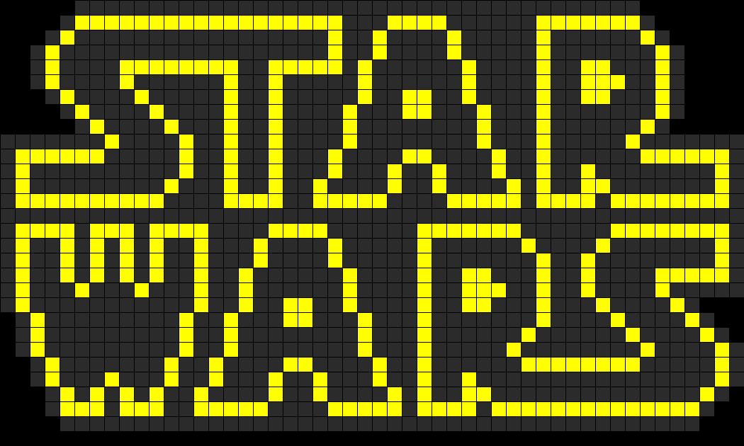 Star Wars Logo Perler Bead Pattern Bead Sprites Misc Fuse Bead Inspiration Star Wars Pattern
