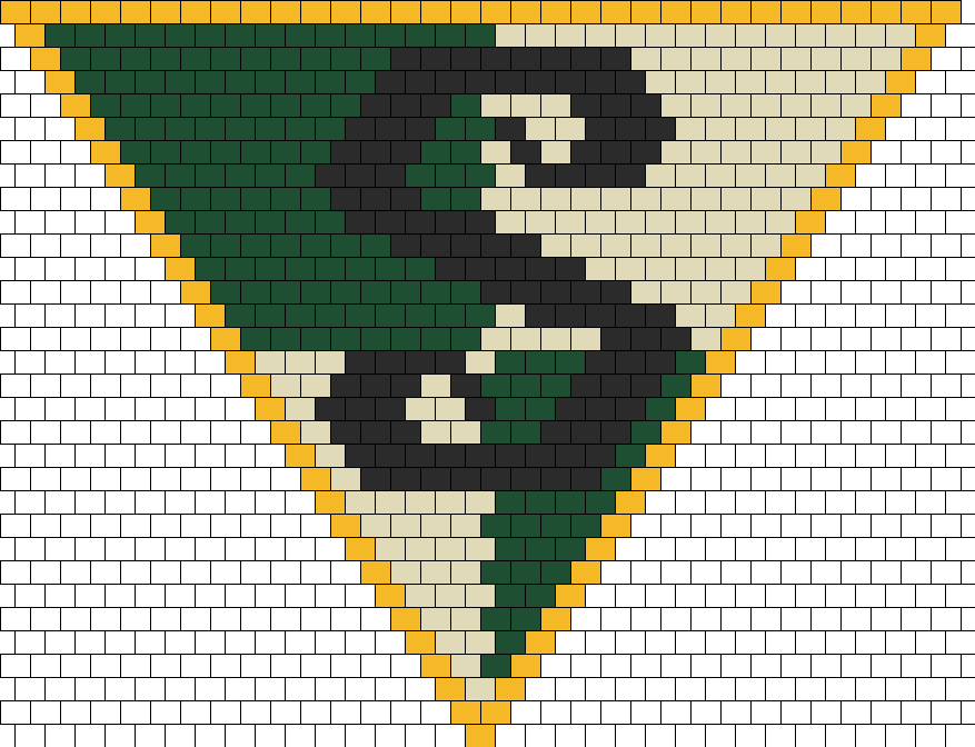 Harry Potter Slytherin Crest Kandana Bead Pattern