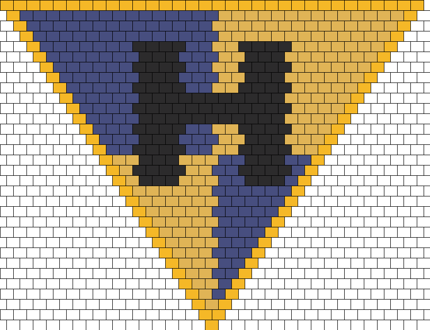 Harry Potter Hufflepuff Crest Kandana Bead Pattern
