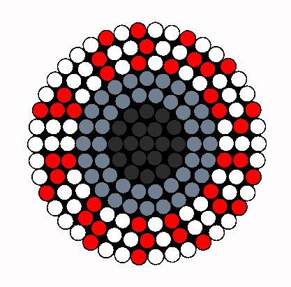 Dilated Eye Perler Perler Bead Pattern / Bead Sprite