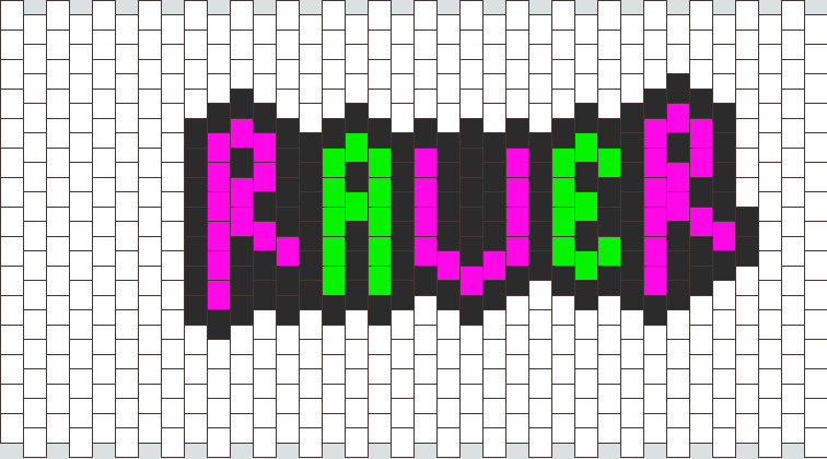 raver necklace pattern