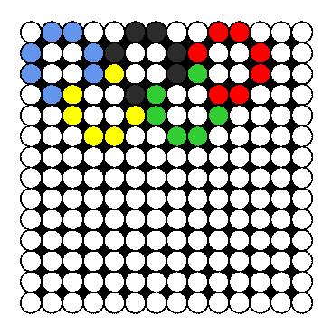 Olympic Rings Perler Bead Pattern / Bead Sprite