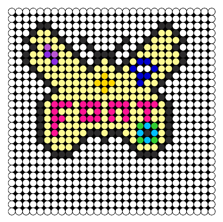 Kaskade Freaks Of Nature Tour Butterfly Perler Bead Pattern / Bead Sprite