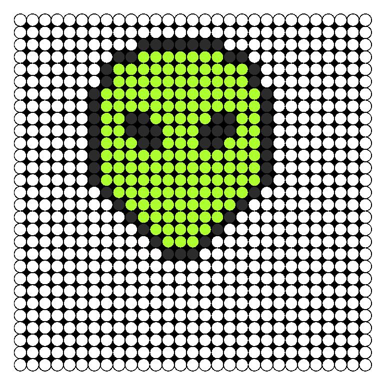 Standard Alien Perler Bead Pattern / Bead Sprite