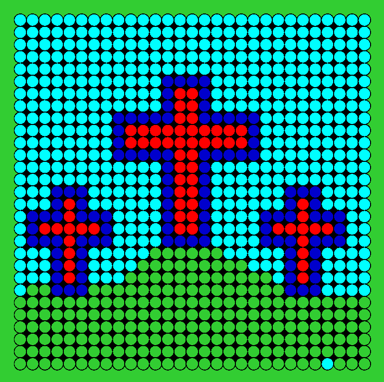 3 Crosses On A Hill  Perler Bead Pattern / Bead Sprite