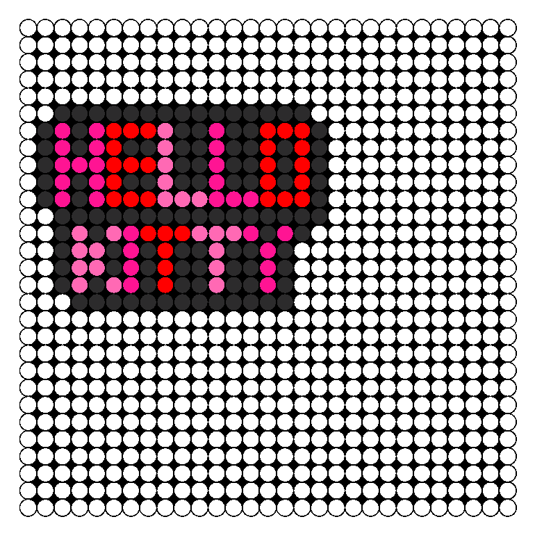 Hello Kitty Necklace Piece Perler Bead Pattern / Bead Sprite