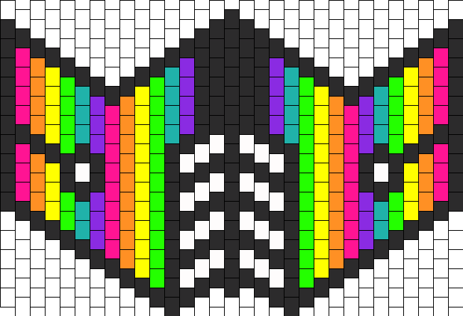 Rainbow Mask Bead Pattern Peyote Bead Patterns Misc Bead Patterns Classy Kandi Mask Patterns