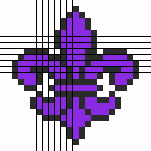 Purple Saints Row Fleur De Lis